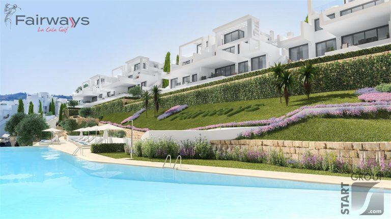 Fairways la Cala Golf Modern new apartments for sale Costa del Sol