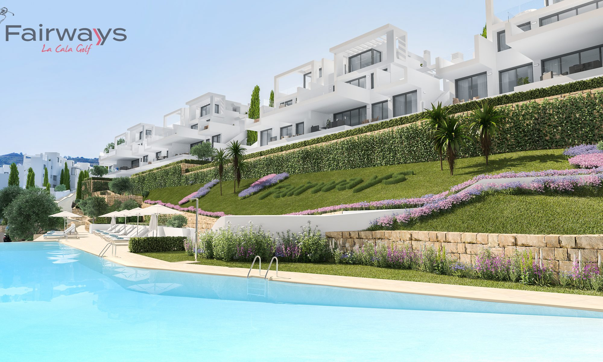 fairways la cala golf new frontline golf apartments with spa and gym for sale in la cala golf resort