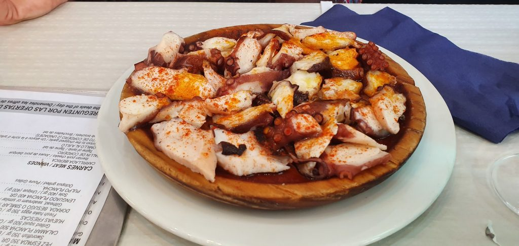 the best TAPAS on the Costa del Sol pulpo gellego