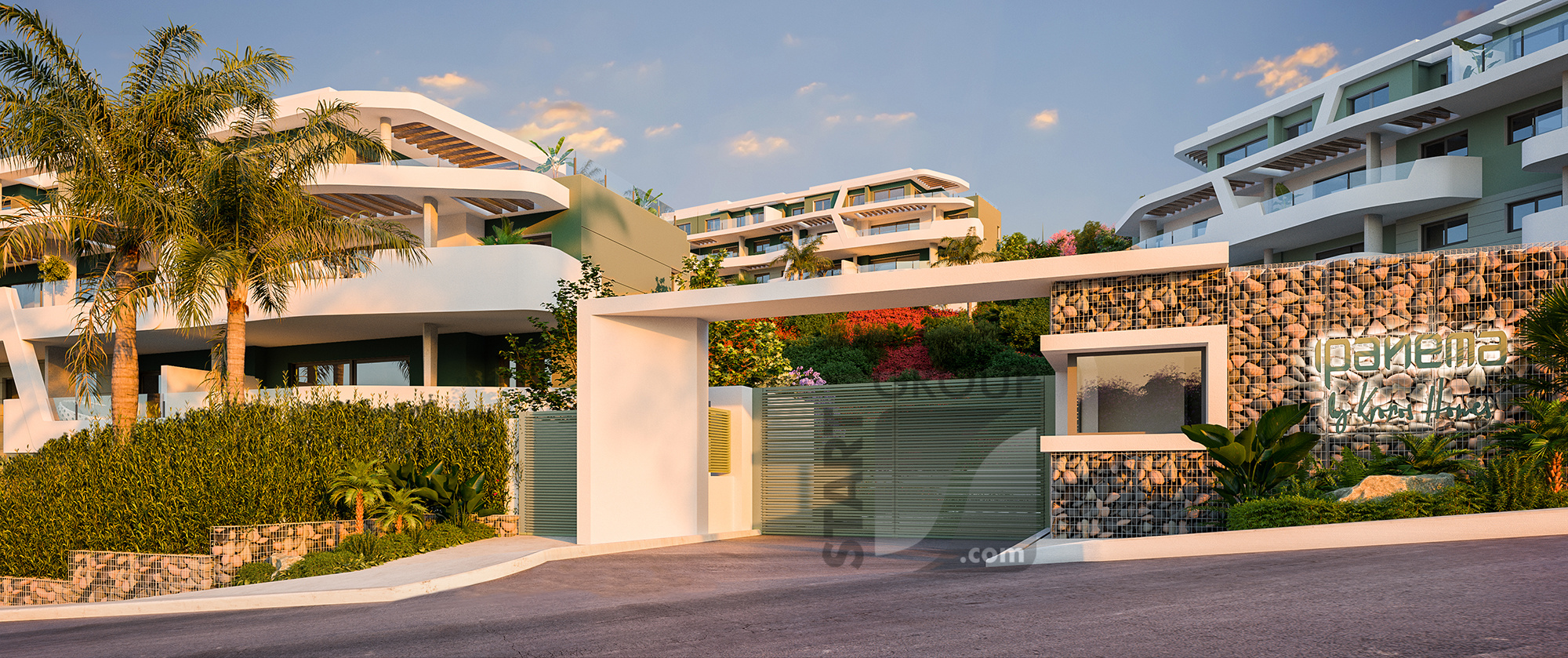 Ipanema new development la Cala Calanova entrance