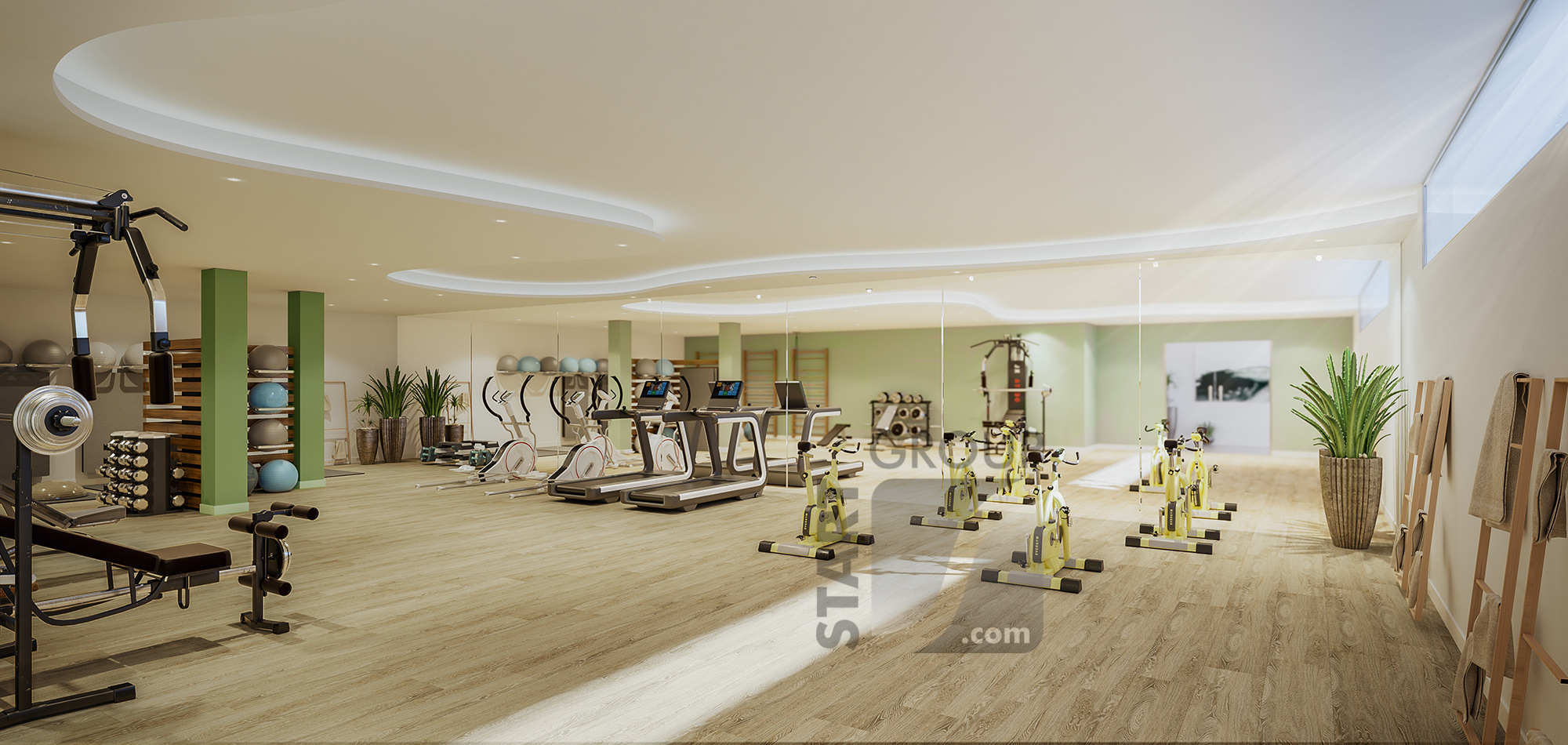 Ipanema new development la Cala Calanova private gym