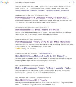 Google search buy repossesed property marbella
