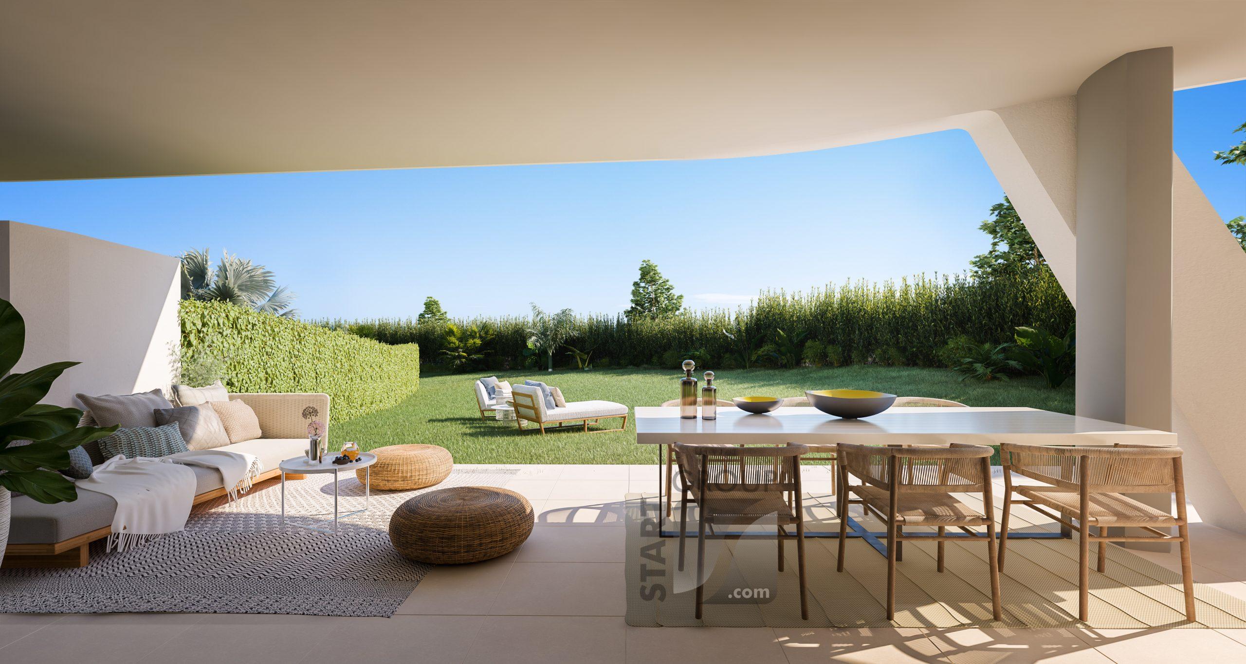 ipanema nyproduktion la cala calanova golf till salu på costa del sol med privat trädgård